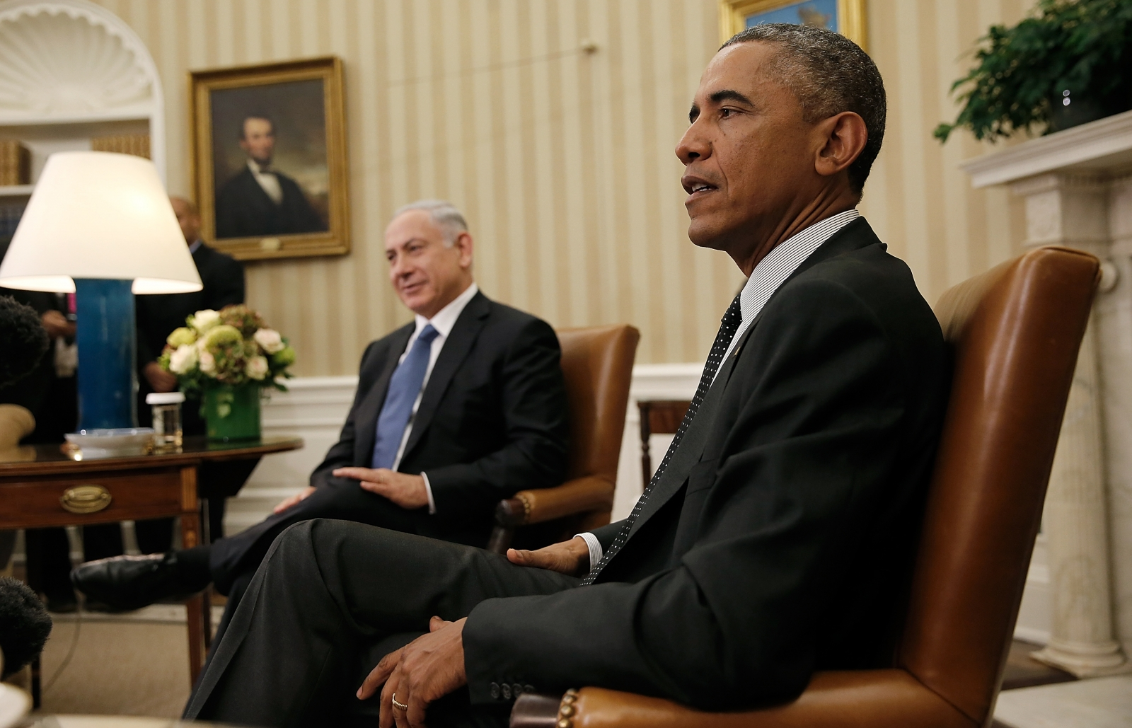US president Barack Obama and Israeli PM Benjamin Netanyahu