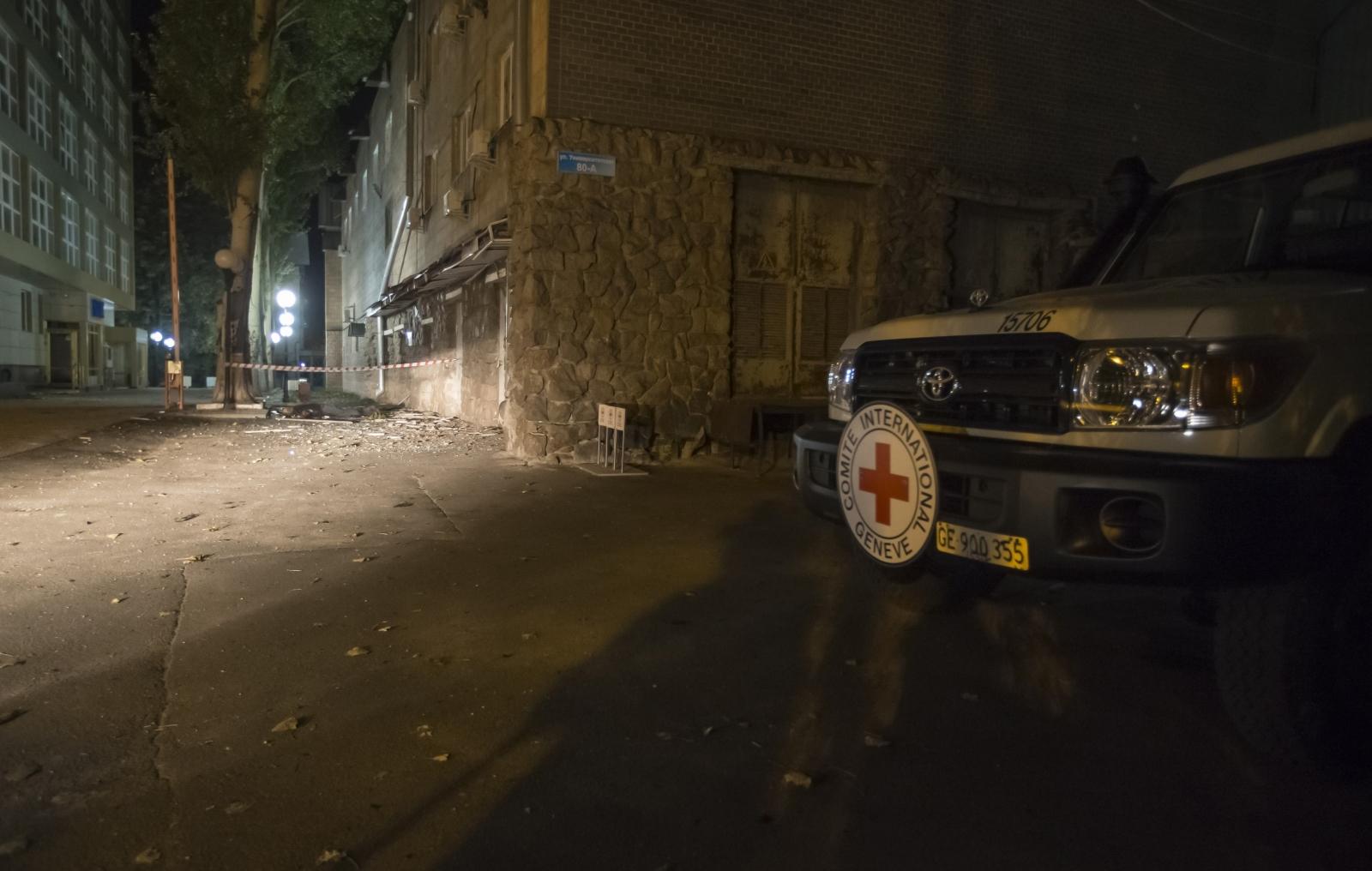 Ukraine: Red Cross Humanitarian Aid Worker Killed in Donetsk Mortar Attack