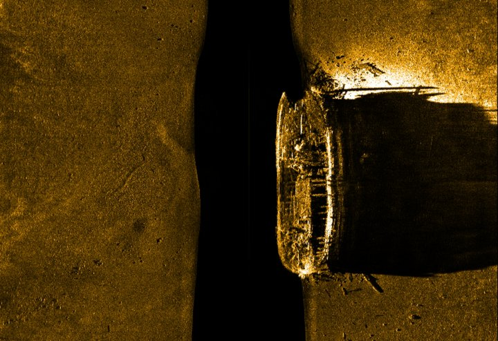 The shipwreck of HMS Erebus, sunk off King William Island in northern Canada
