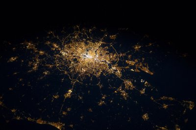 london from space