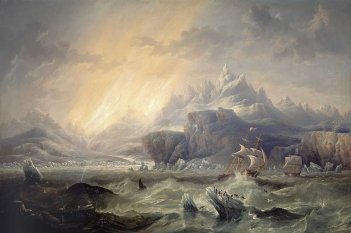 HMS Erebus and Terror in the Antarctic