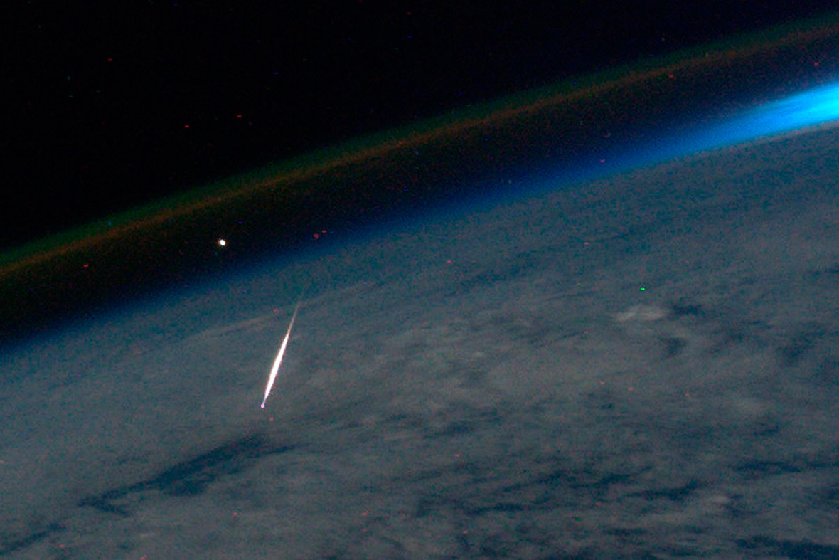shooting star from space