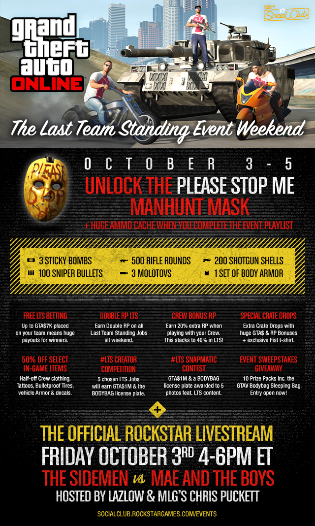 GTA 5 Online 1 17 Update: Last Team Standing Event Weekend