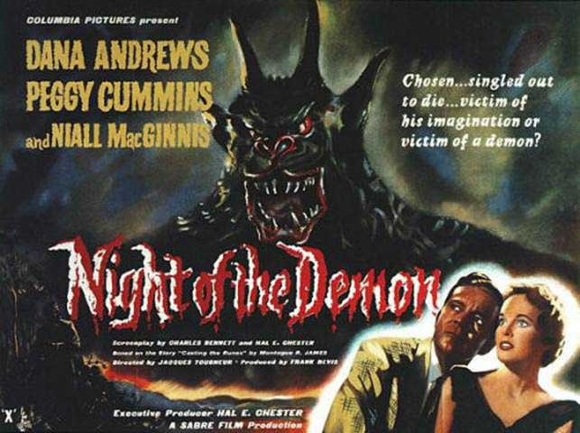 Night of the Demon film poster.
