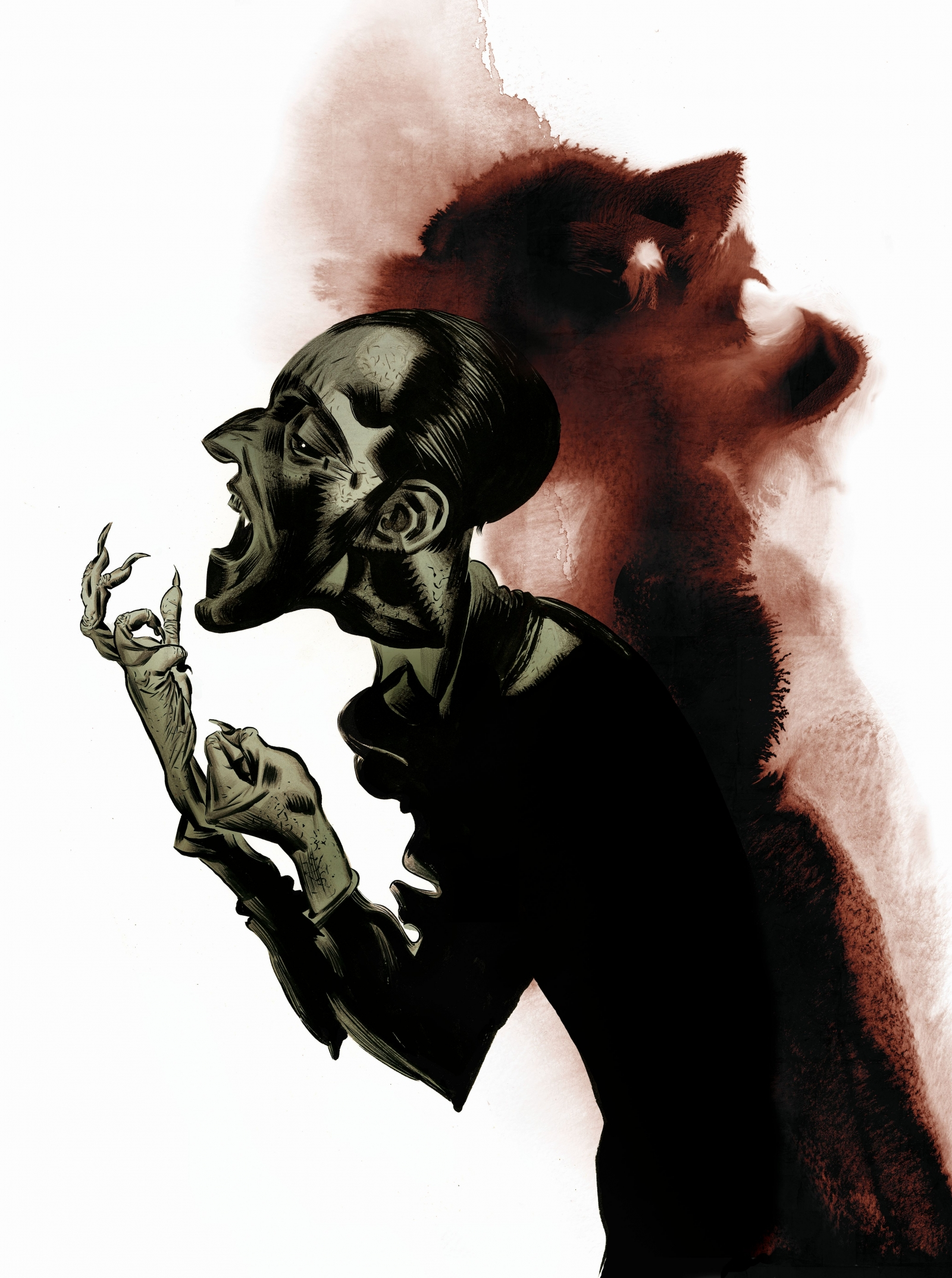 Artist Dave McKean's new artwork for Terror and Wonder: The Gothic Imagination
