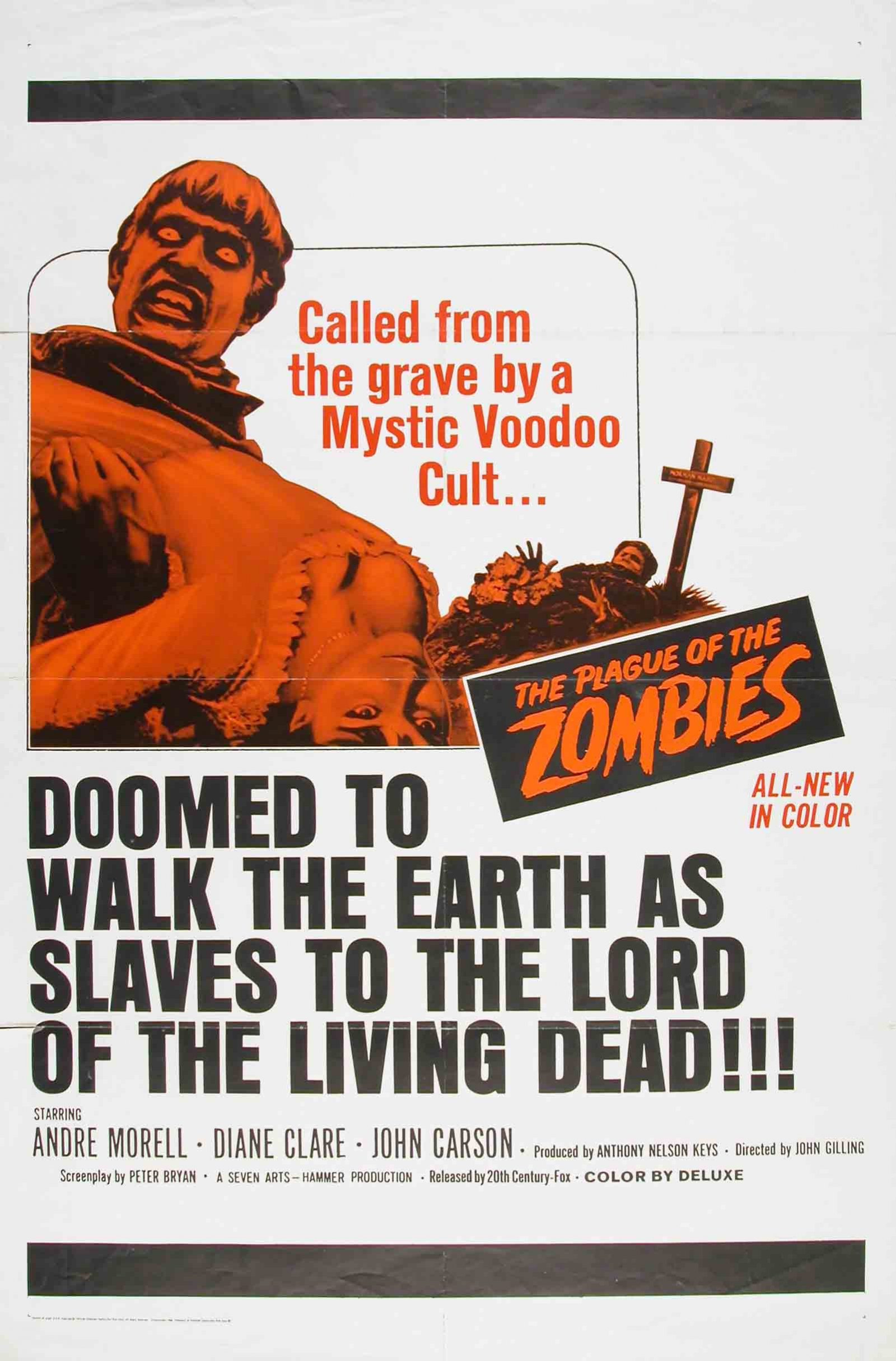 Plague of the Zombies poster.