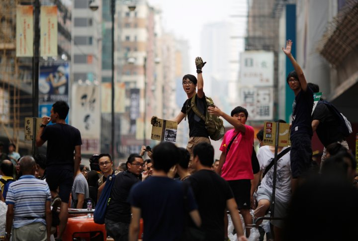 Hong Kong student pro-democracy protestors