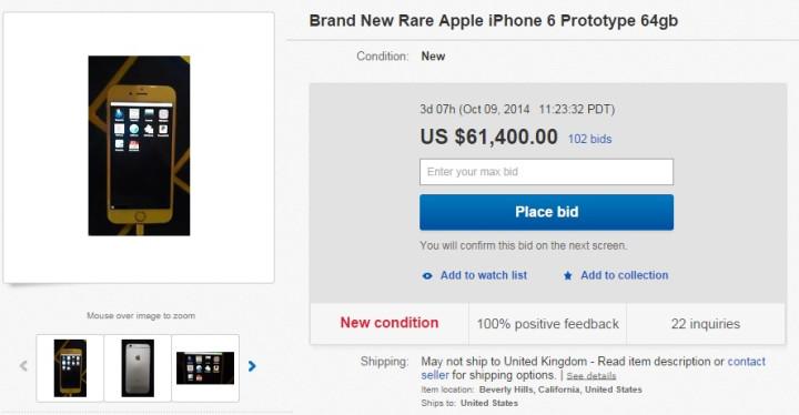iphone 6 prototype ebay