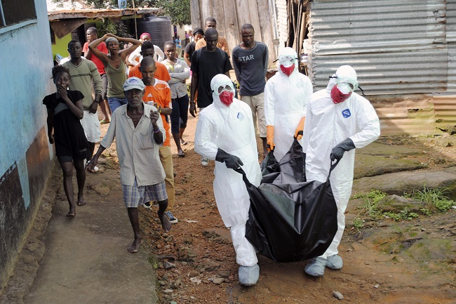 ebola victim rises from dead