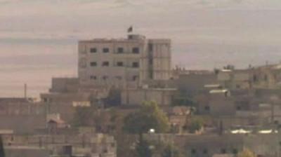 Syria Isis Flag Flies over Kobani