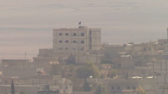 Syria: Isis Flag Flies over Kurdish Kobani