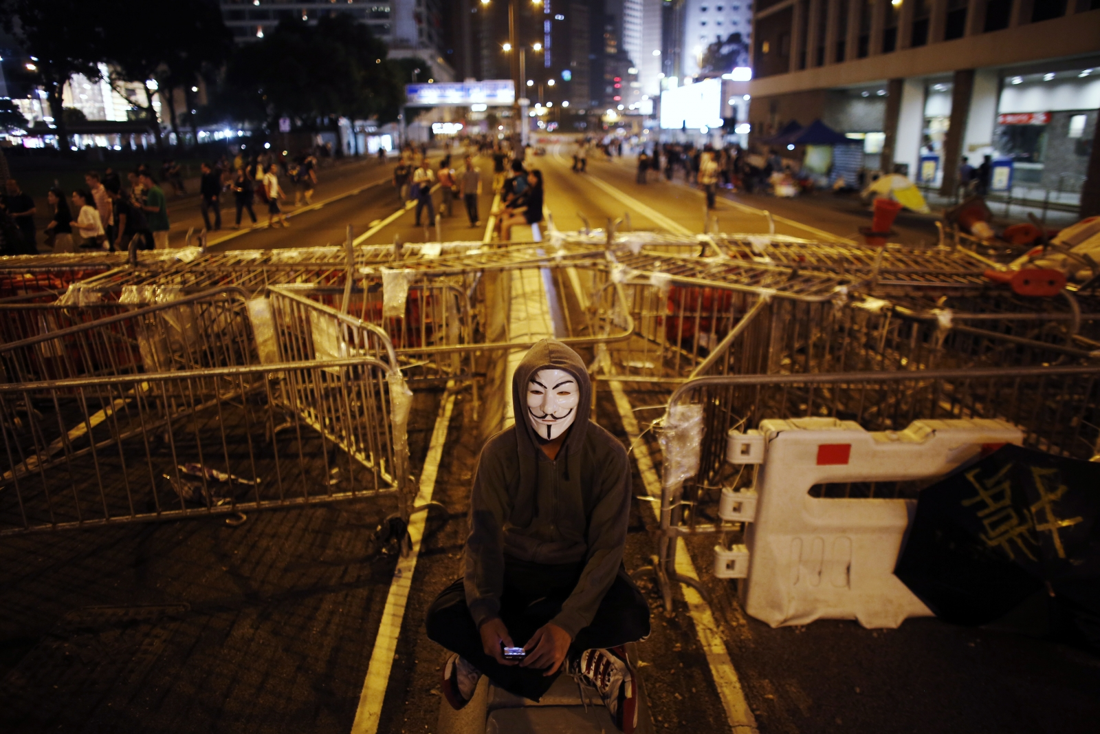 HK Anonymous Hackers Arrest protests