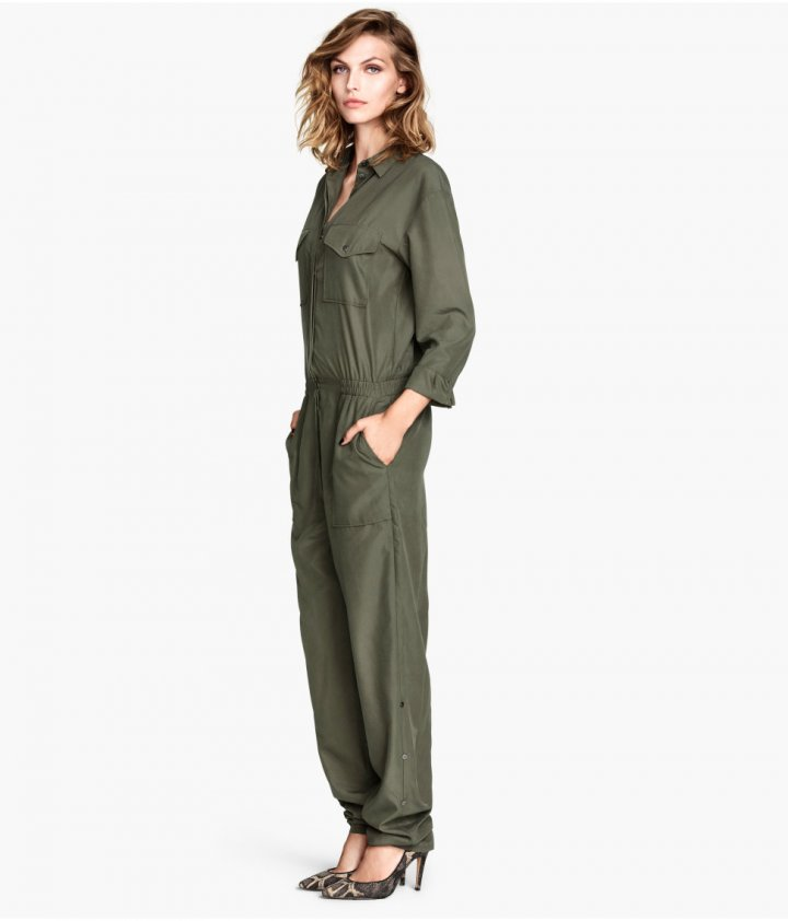 good out x exquisite design amazon Fashion House H&M Denies Khaki Green Jumpsuit is Based on ...