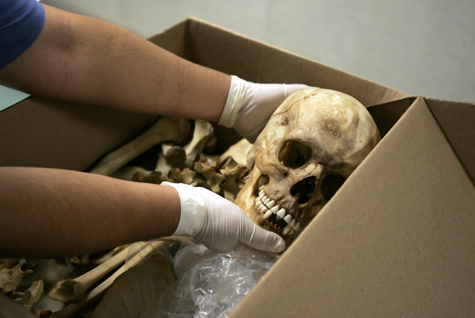 Archaeologists have discovered the skeleton of a girl from the Middle Ages buried face down, possibly because of witchcraft