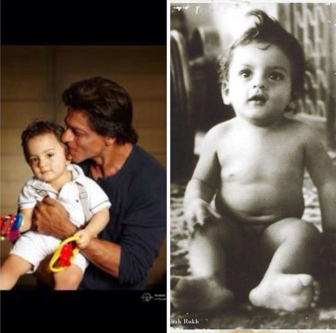 Shahrukh Khan Finally Shares Son AbRam's Picture and the Adorable Toddler is a Splitting Image of the Happy New Year Star