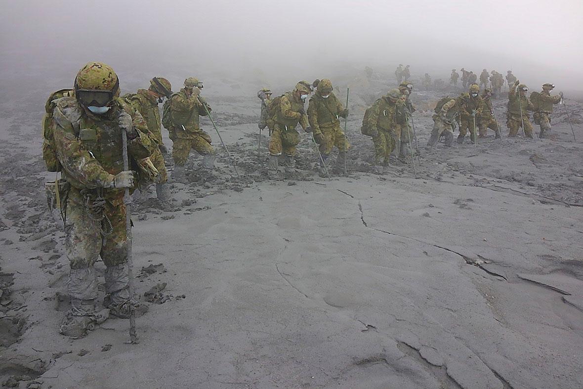 japan volcano ash