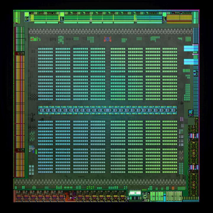 Nvidia Maxwell chipset dieshot