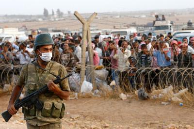 syria turkey border guard