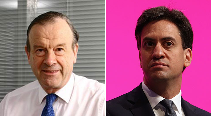 John Mills and Ed Miliband