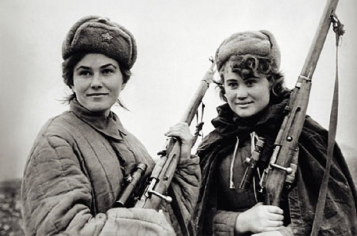 red army women