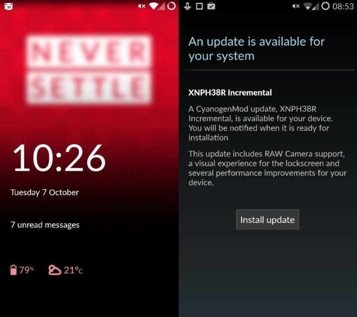 CyanogenMod 11S XNPH38R OTA update