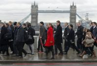 London Commuters would rather avoid eye contact