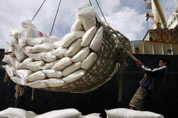 China aid rice