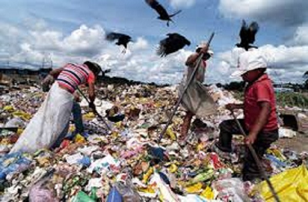 Waste pickers are a common sight outside South Africa's towns and cities.