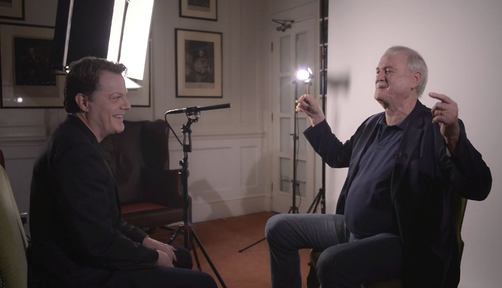 Eddie Izzard Interviews John Cleese on this Comedy Career