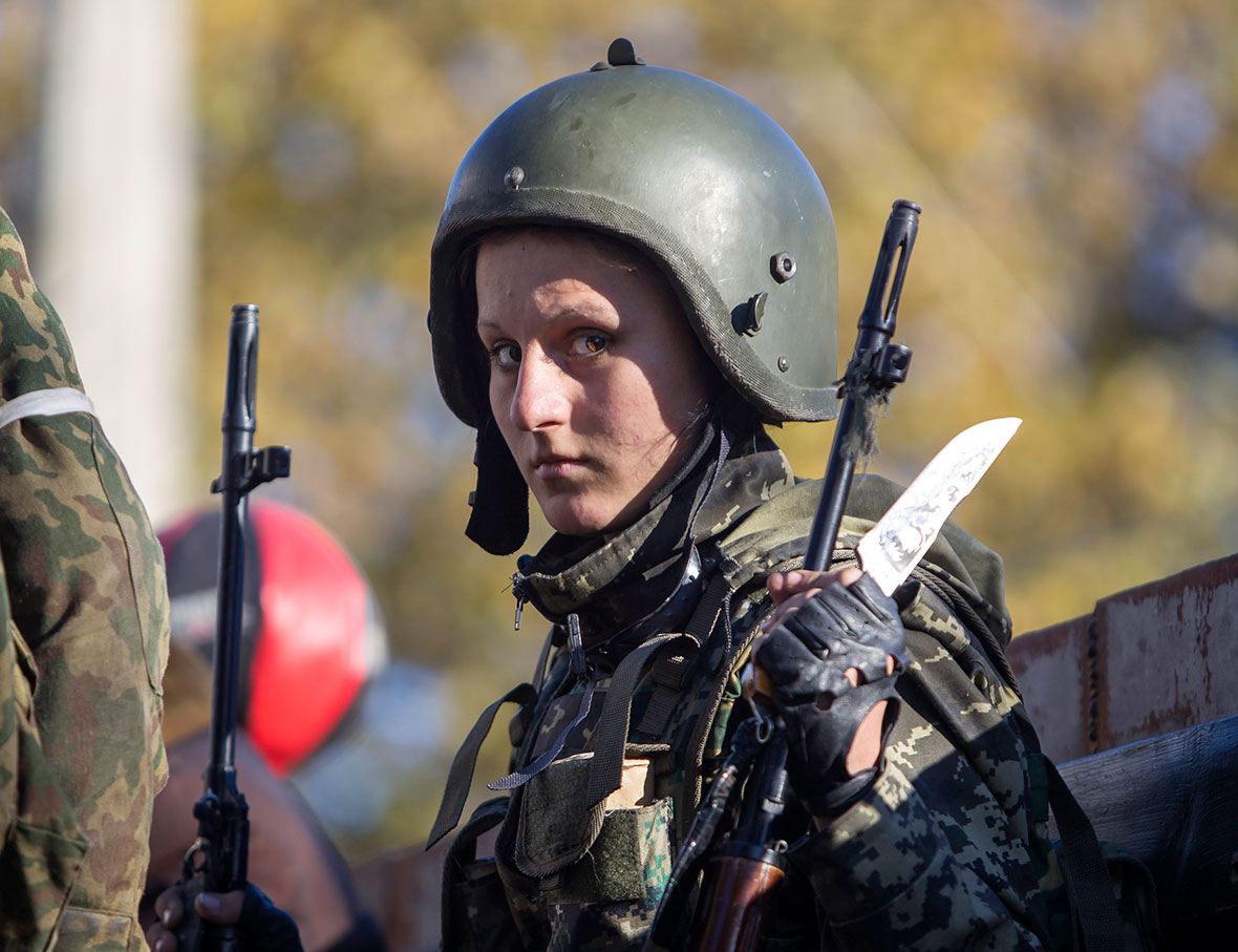 ukraine women fighters