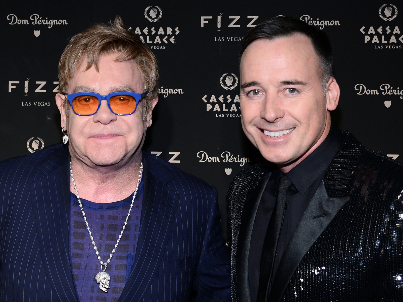 Elton John with husband David Furnish