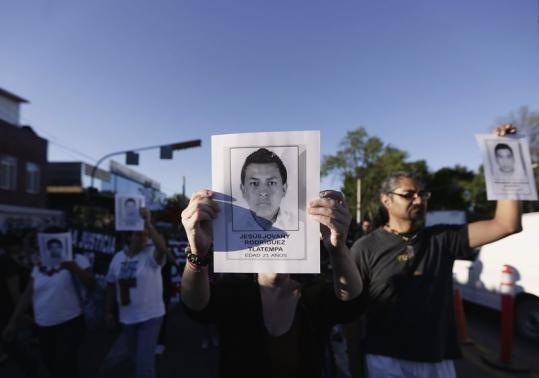 Mexico missing students protest
