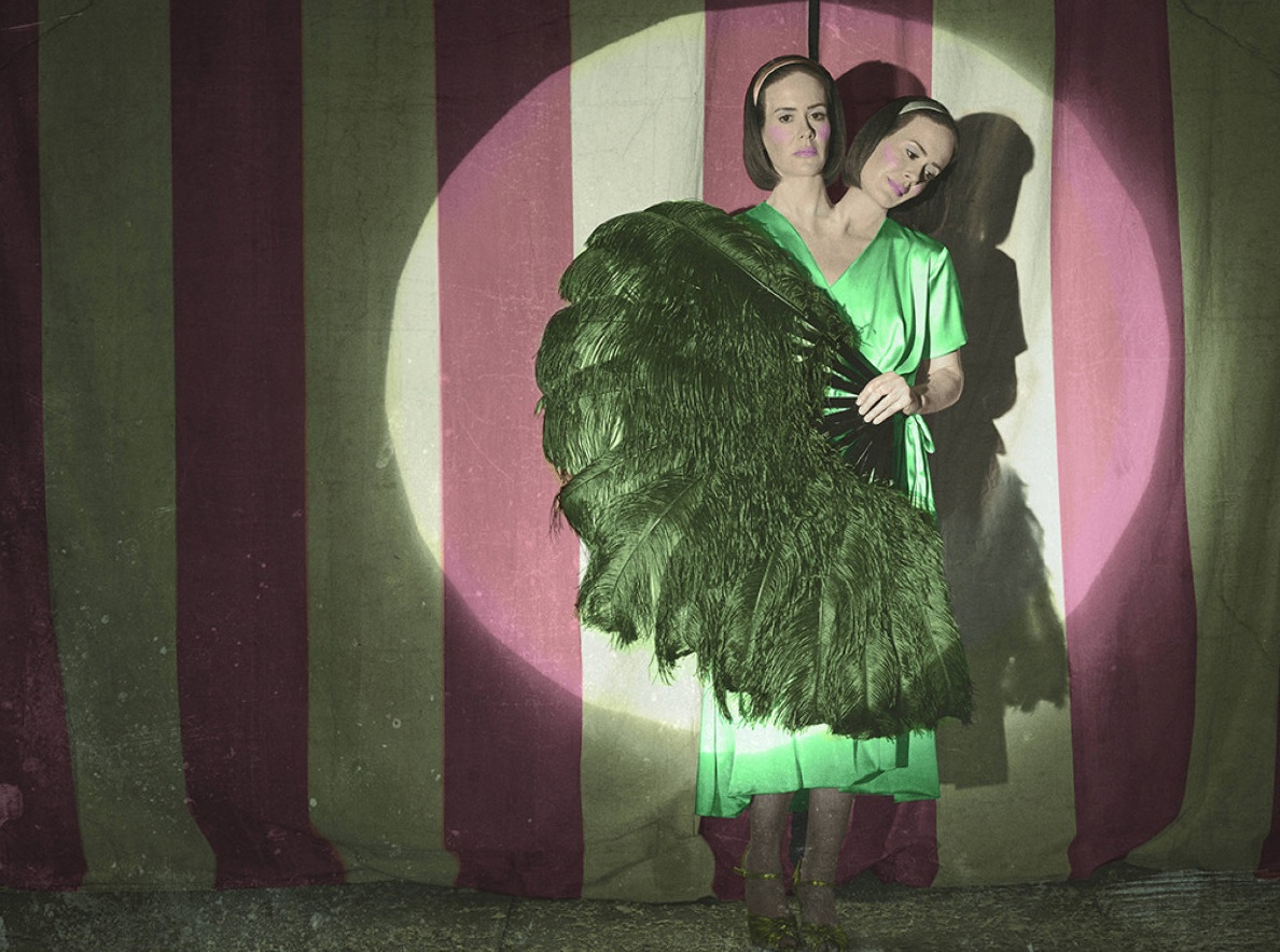 American Horror Story: Freak Show - The two-headed woman, played by Sarah Paulson