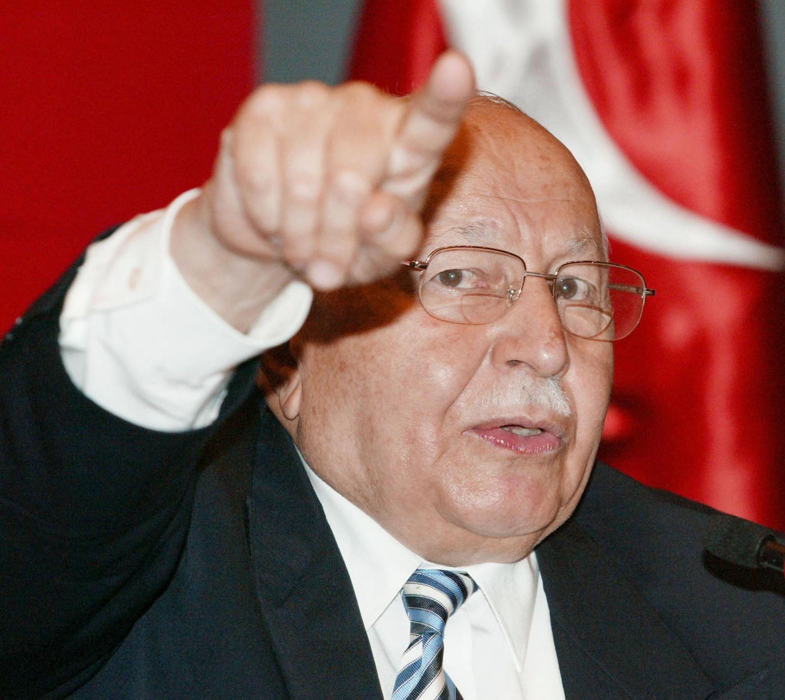 Turkey's former islamist prime minister Necmettin Erbakan