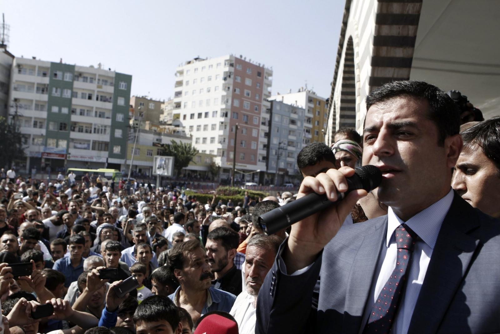 Selahattin Demirtas, co-chair of the HDP, Turkey's leading Kurdish party
