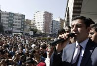 Selahattin Demirtas, co-chair of the HDP, Turkey\'s leading Kurdish party