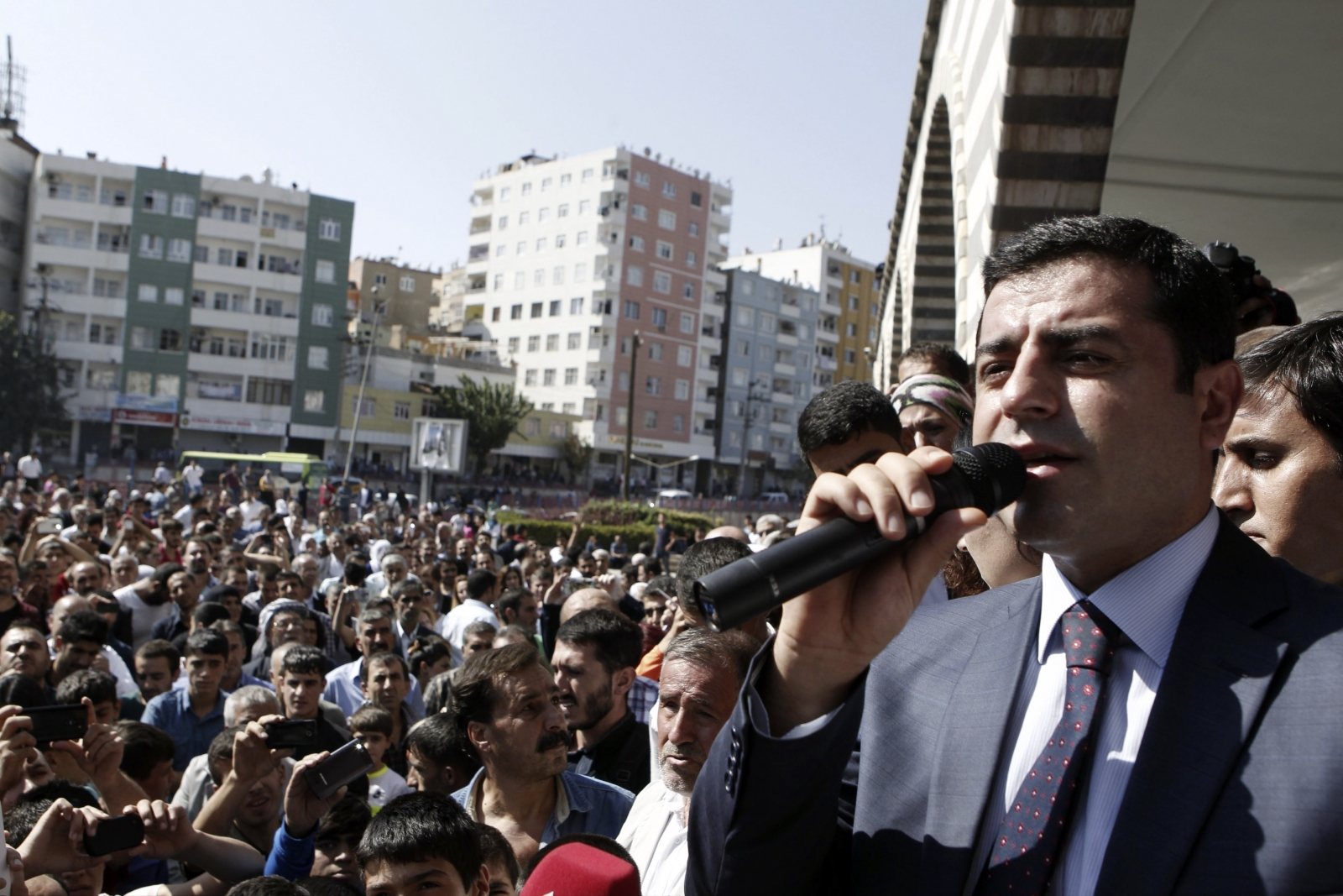 Selahattin Demirtas, co-chair of the HDP, Turkey's leading Kurdish party