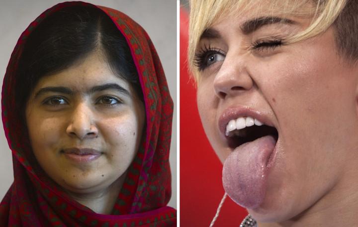 Malala and Miley Cyrus