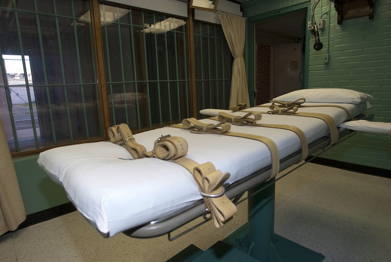 Oklahoma State Penitentiary\'s execution chamber was refurbished following an investigation into the botched lethal injection of Clayton Lockett on 29 April 2014