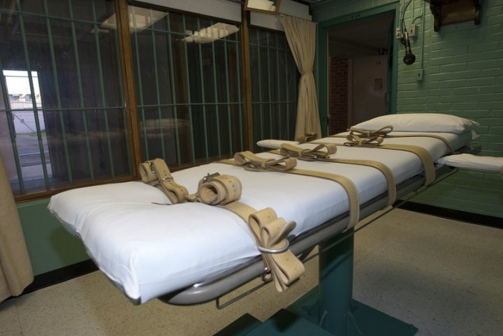 Oklahoma State Penitentiary's execution chamber was refurbished following an investigation into the botched lethal injection of Clayton Lockett on 29 April 2014
