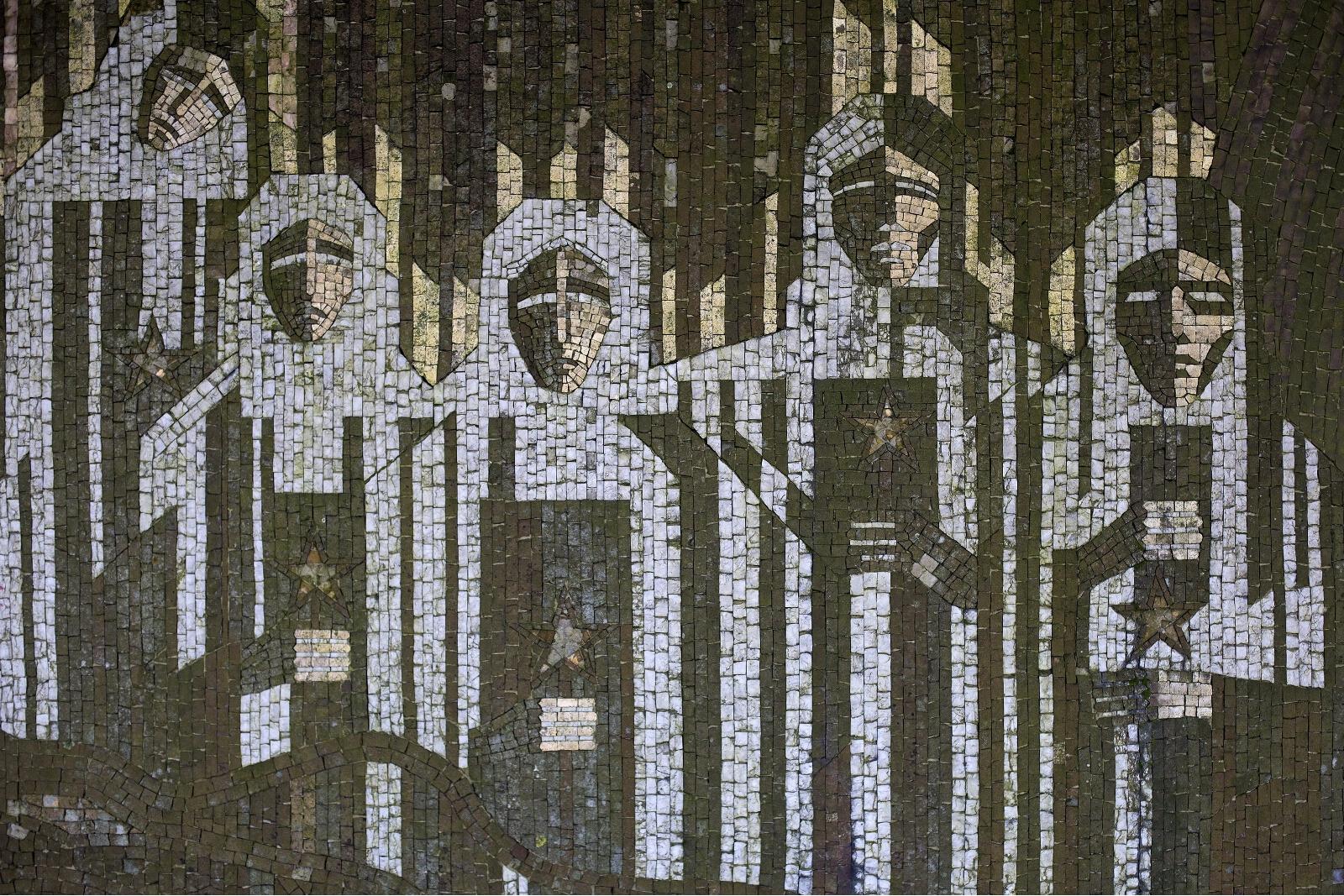 Buzludzha memorial house mosaic