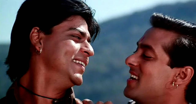 Shahrukh Khan And Salman Khan in Karan Arjun