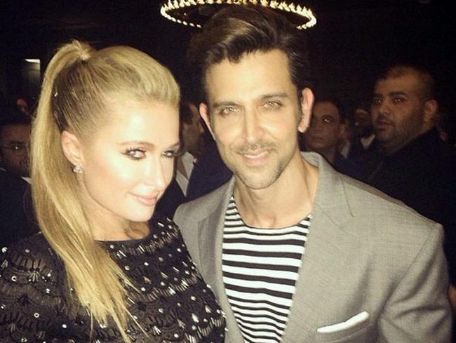 Hrithik Roshan and Paris Hilton