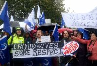 NHS Hospital Staff Stage Four-Hour Strike Over Pay