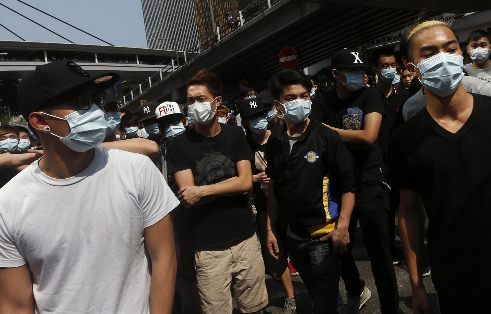 Fights Erupt as Masked Group Tries to Break Hong Kong Protest Barriers