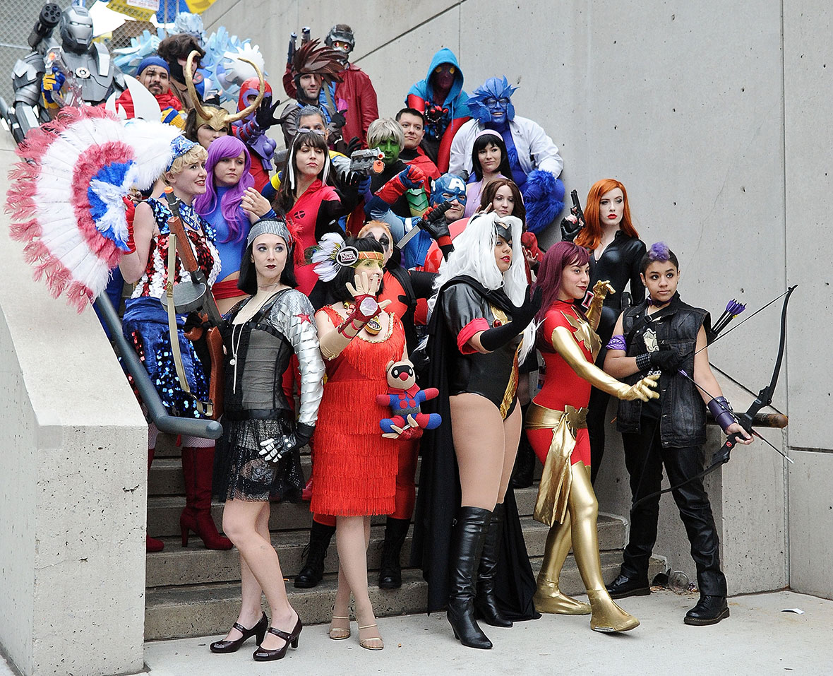 Anime Characters For Comic Con : New york comic con superheroes and villains take