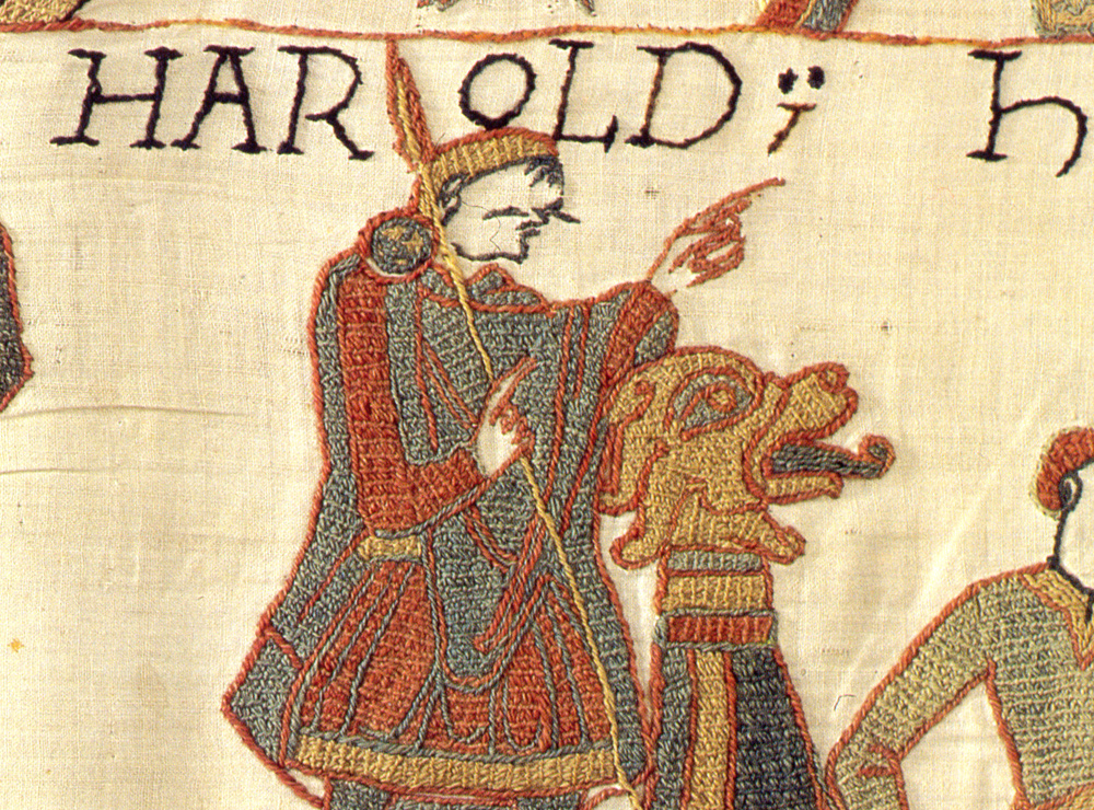 King Harold II, as depicted on the Bayeux Tapestry - did King Harold really die at the Battle of Hastings?