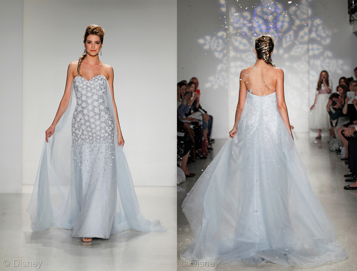 Alfred Angelo and Disney's Elsa Frozen wedding dress