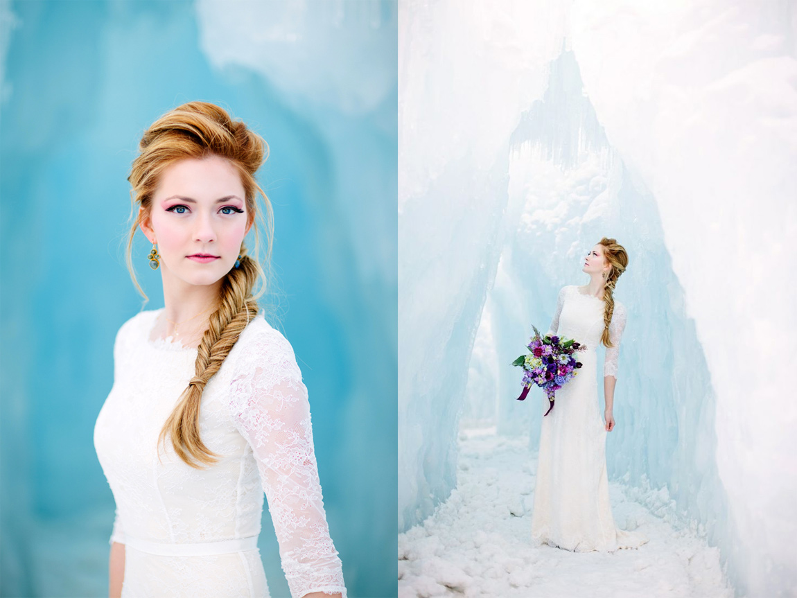 Illume Gowns and Meredith Carlson's Frozen-inspired wedding photoshoot