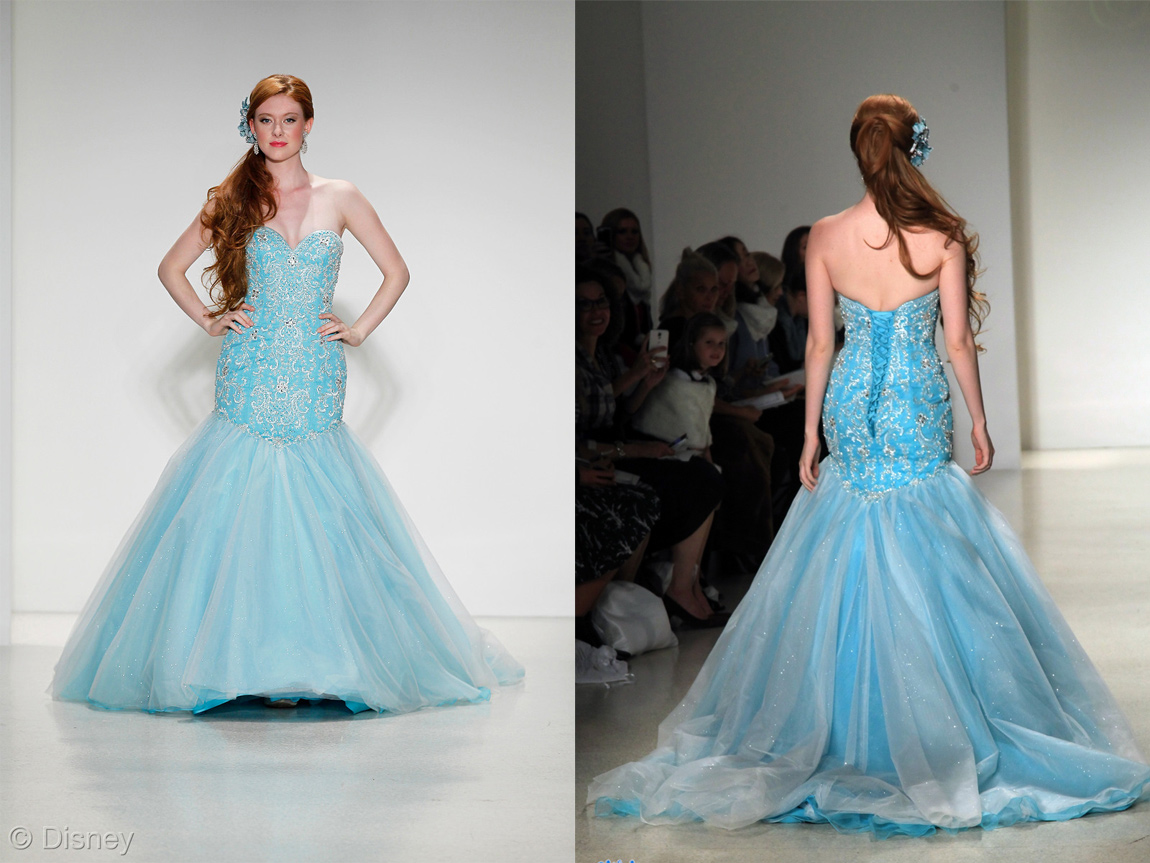 Frozen wedding dress alfred angelo launches disney approved alfred angelos ariel dress would also be good for anyone considering a ombrellifo Gallery